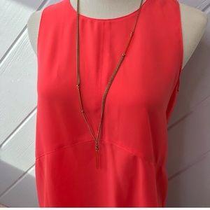 {J. Crew} long gold necklace bar adjustable